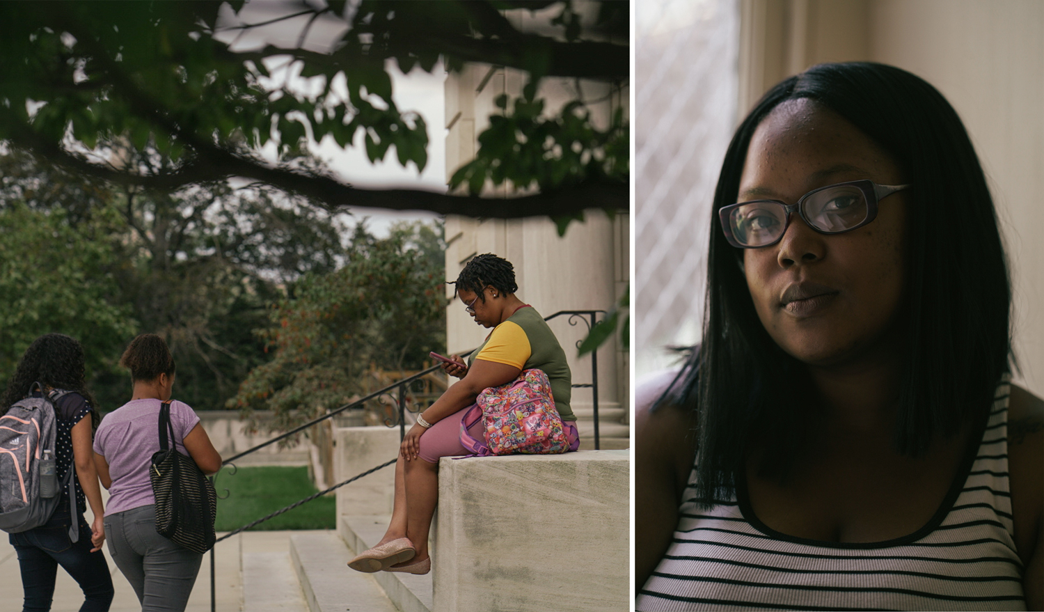 """I try notto go off when people talk negatively about the homeless,"" Bre said.""I always tell people, you never know. Be grateful for what you have because you never know. It could be gone like that."""