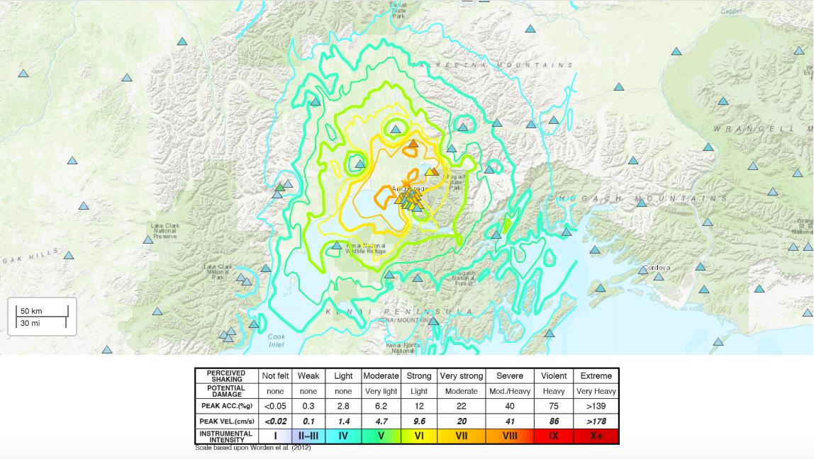 Magnitude 7.0 Earthquake Strikes Near Anchorage